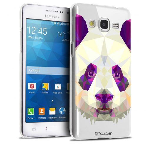 Extra Slim Crystal Galaxy Grand Prime Case Polygon Animals Panda