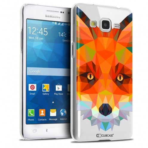 Extra Slim Crystal Galaxy Grand Prime Case Polygon Animals Fox