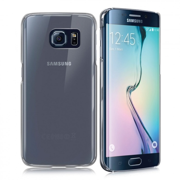 new concept 06864 9a345 Slim Crystal Clear Hard Case for Samsung Galaxy S6 Edge