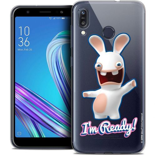 """Crystal Gel Asus Zenfone Max (M1) ZB555KL (5.5"""") Case Lapins Crétins™ I'm Ready !"""