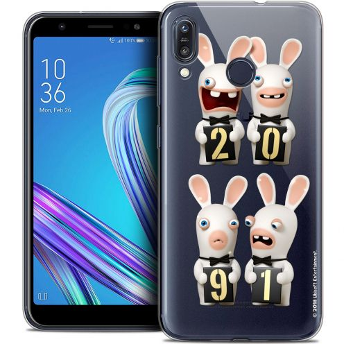 """Crystal Gel Asus Zenfone Max (M1) ZB555KL (5.5"""") Case Lapins Crétins™ New Year"""