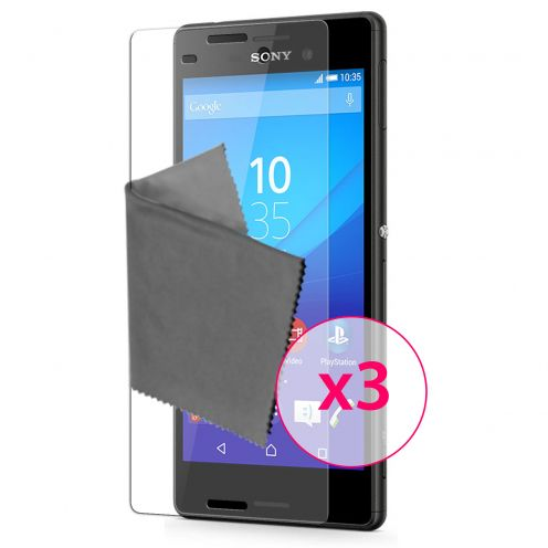 Clubcase ® 3H Ultra Clear HD screen protector for Sony Xperia M4 Aqua 3-Pack