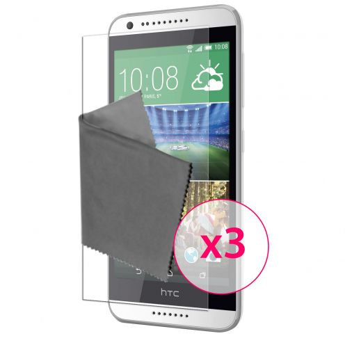 Clubcase ® 3H Ultra Clear HD screen protector for HTC Desire 620 3-Pack