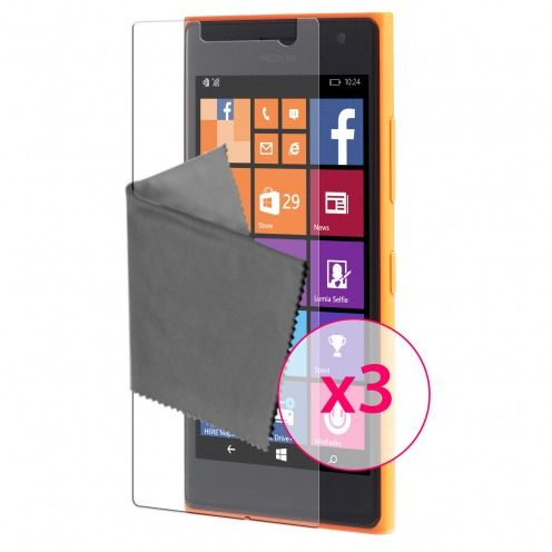 Clubcase ® 3H Ultra Clear HD screen protector for Microsoft Lumia 730/735 3-Pack
