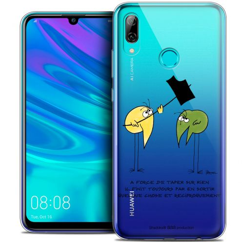 "Extra Slim Crystal Gel Huawei P Smart 2019 (6.21"") Case Les Shadoks® A Force"