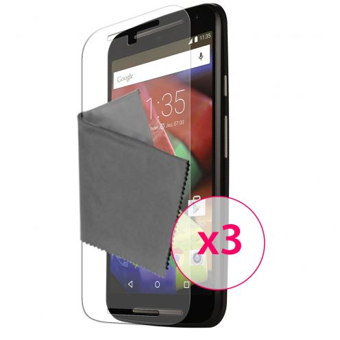 Clubcase ® 3H Ultra Clear HD screen protector for Motorola Moto G 4G (V2 2014) 3-Pack