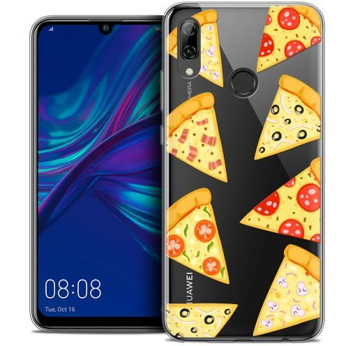 "Extra Slim Crystal Gel Huawei P Smart 2019 (6.21"") Case Foodie Pizza"