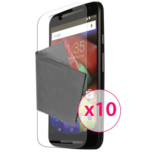Clubcase ® 3H Ultra Clear HD screen protector for Motorola Moto G 4G (V2 2014) 10-Pack