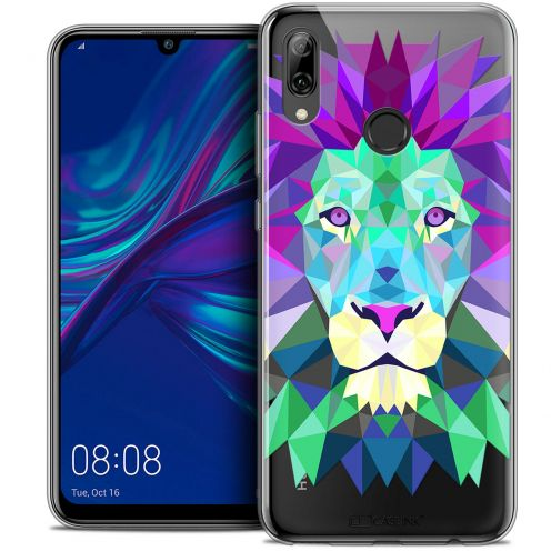 "Extra Slim Crystal Gel Huawei P Smart 2019 (6.21"") Case Polygon Animals Lion"
