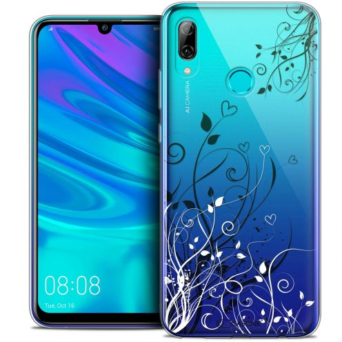 "Extra Slim Crystal Gel Huawei P Smart 2019 (6.21"") Case Love Hearts Flowers"