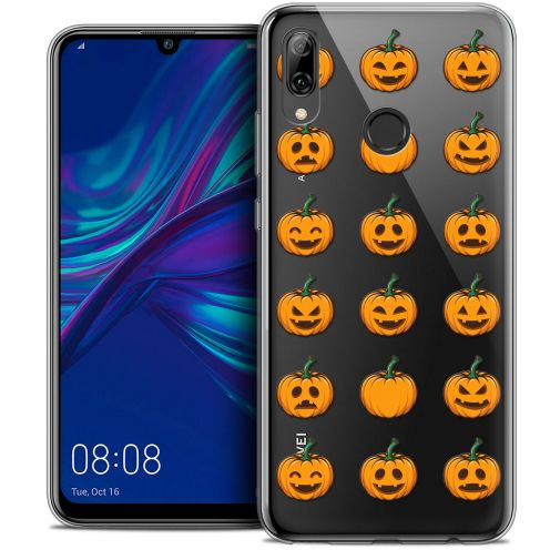 "Extra Slim Crystal Gel Huawei P Smart 2019 (6.21"") Case Halloween Smiley Citrouille"