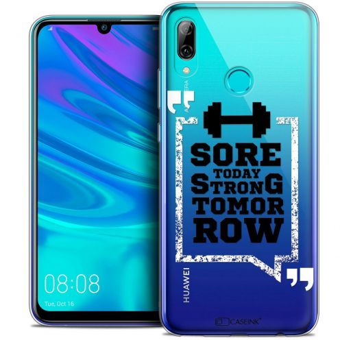 """Extra Slim Crystal Gel Huawei P Smart 2019 (6.21"""") Case Quote Strong Tomorrow"""