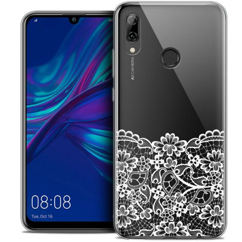 "Extra Slim Crystal Gel Huawei P Smart 2019 (6.21"") Case Spring Bas dentelle"