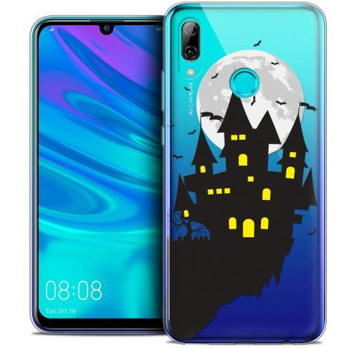 "Extra Slim Crystal Gel Huawei P Smart 2019 (6.21"") Case Halloween Castle Dream"