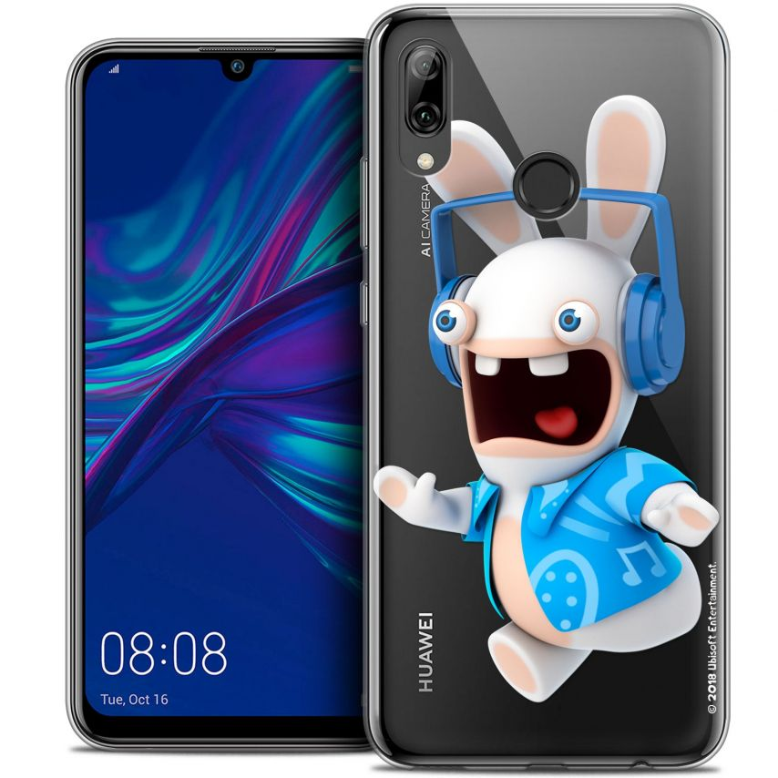 "Crystal Gel Huawei P Smart 2019 (6.21"") Case Lapins Crétins™ Techno Lapin"