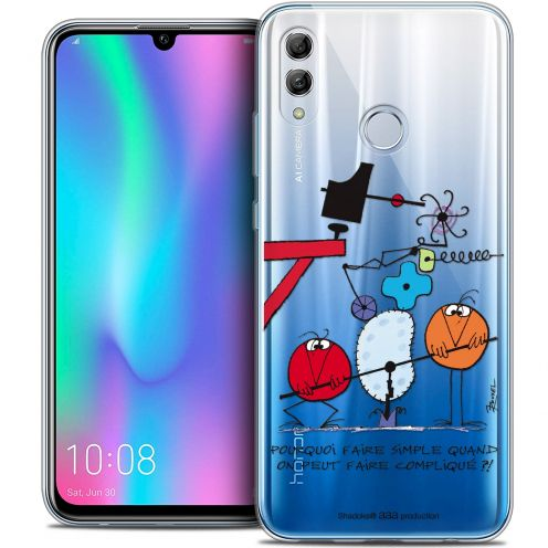 "Extra Slim Crystal Gel Huawei Honor 10 LITE (5.8"") Case Les Shadoks® Pourquoi faire Simple"