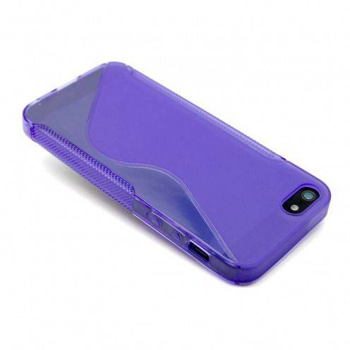 "iPhone 5 SLine TPU ""BASICS"" purple case"