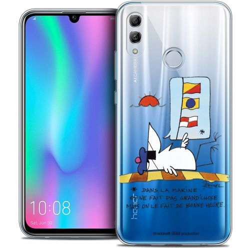 "Extra Slim Crystal Gel Huawei Honor 10 LITE (5.8"") Case Les Shadoks® La Marine"