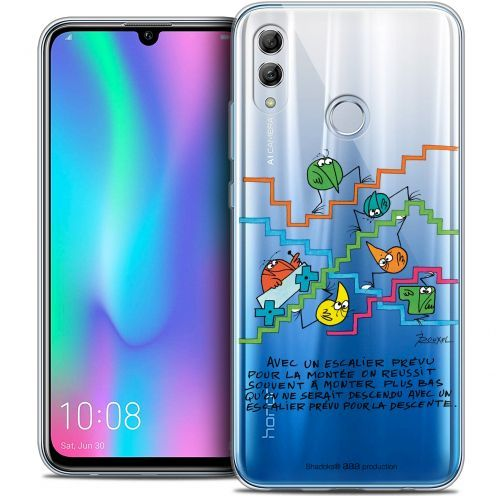 "Extra Slim Crystal Gel Huawei Honor 10 LITE (5.8"") Case Les Shadoks® L'escalier"