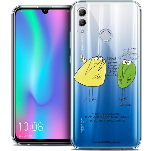 "Extra Slim Crystal Gel Huawei Honor 10 LITE (5.8"") Case Les Shadoks® Le Dialogue"
