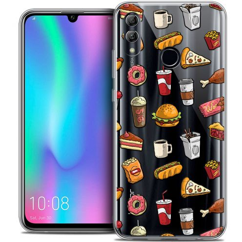 "Extra Slim Crystal Gel Huawei Honor 10 LITE (5.8"") Case Foodie Fast Food"