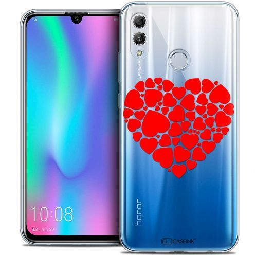"Extra Slim Crystal Gel Huawei Honor 10 LITE (5.8"") Case Love Coeur des Coeurs"