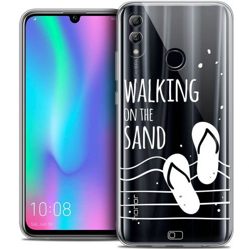 "Extra Slim Crystal Gel Huawei Honor 10 LITE (5.8"") Case Summer Walking on the Sand"
