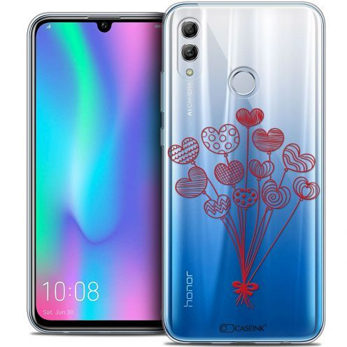 "Extra Slim Crystal Gel Huawei Honor 10 LITE (5.8"") Case Love Ballons d'amour"