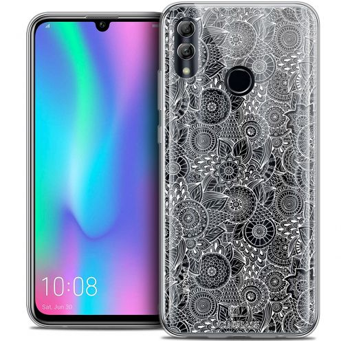 "Extra Slim Crystal Gel Huawei Honor 10 LITE (5.8"") Case Dentelle Florale Blanc"