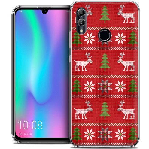 "Extra Slim Crystal Gel Huawei Honor 10 LITE (5.8"") Case Noël 2017 Couture Rouge"