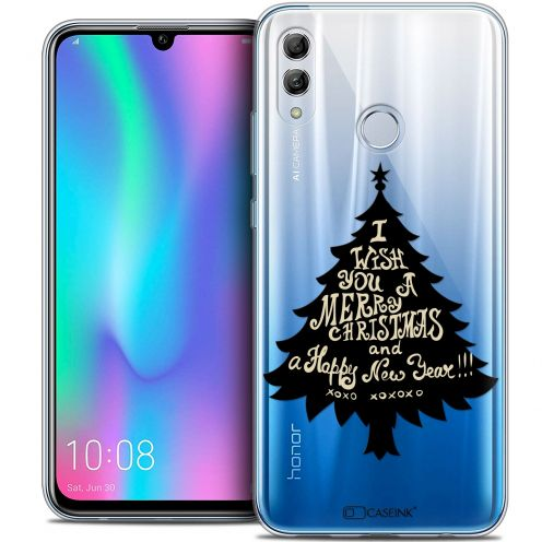 "Extra Slim Crystal Gel Huawei Honor 10 LITE (5.8"") Case Noël 2017 XOXO Tree"
