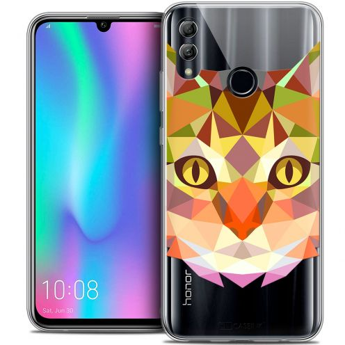 "Extra Slim Crystal Gel Huawei Honor 10 LITE (5.8"") Case Polygon Animals Cat"