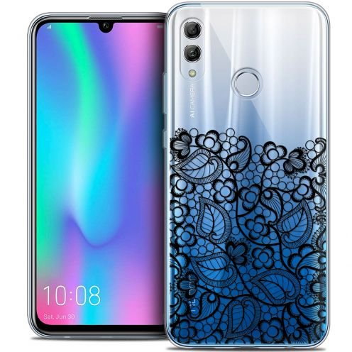"Extra Slim Crystal Gel Huawei Honor 10 LITE (5.8"") Case Spring Bas dentelle Noir"