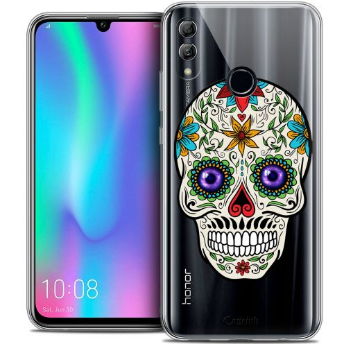 "Extra Slim Crystal Gel Huawei Honor 10 LITE (5.8"") Case Skull Maria's Flower"