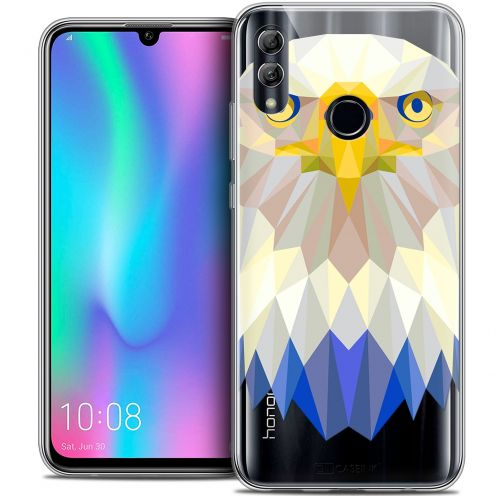 "Extra Slim Crystal Gel Huawei Honor 10 LITE (5.8"") Case Polygon Animals Eagle"
