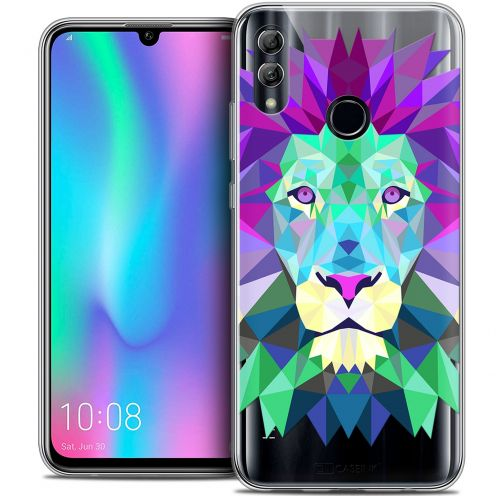 "Extra Slim Crystal Gel Huawei Honor 10 LITE (5.8"") Case Polygon Animals Lion"