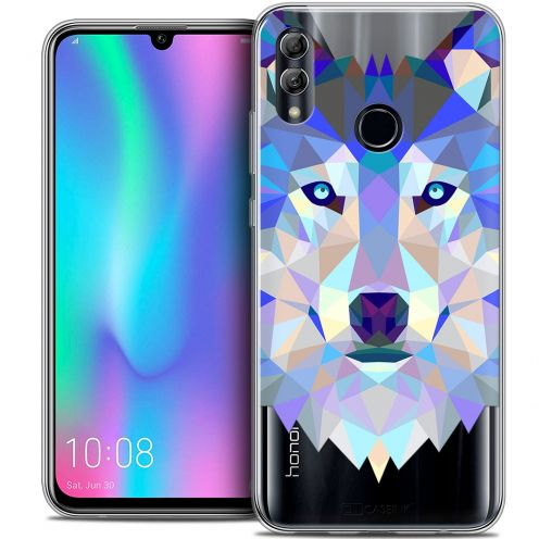 "Extra Slim Crystal Gel Huawei Honor 10 LITE (5.8"") Case Polygon Animals Wolf"