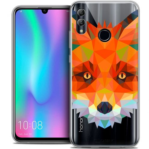 "Extra Slim Crystal Gel Huawei Honor 10 LITE (5.8"") Case Polygon Animals Fox"