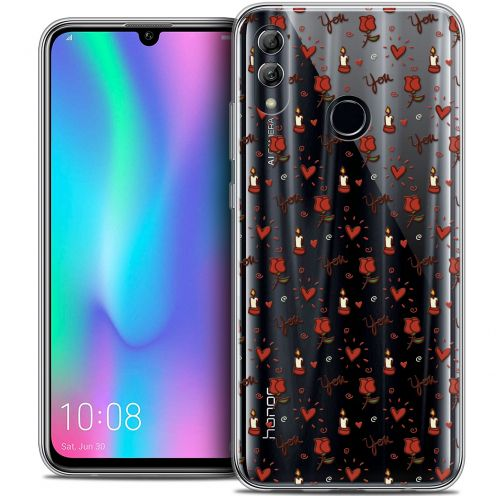 "Extra Slim Crystal Gel Huawei Honor 10 LITE (5.8"") Case Love Bougies et Roses"