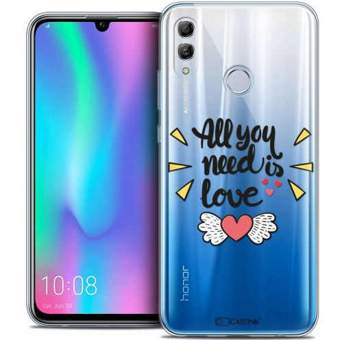 "Extra Slim Crystal Gel Huawei Honor 10 LITE (5.8"") Case Love All U Need Is"