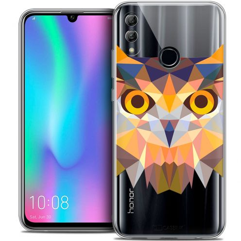 "Extra Slim Crystal Gel Huawei Honor 10 LITE (5.8"") Case Polygon Animals Owl"