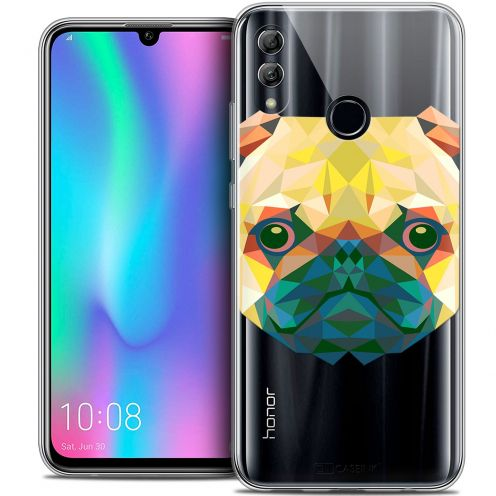"Extra Slim Crystal Gel Huawei Honor 10 LITE (5.8"") Case Polygon Animals Dog"