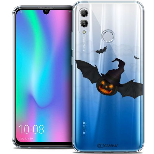 "Extra Slim Crystal Gel Huawei Honor 10 LITE (5.8"") Case Halloween Chauve Citrouille"