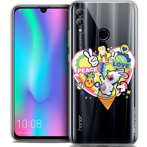 "Crystal Gel Huawei Honor 10 LITE (5.8"") Case Lapins Crétins™ Peace And Love"