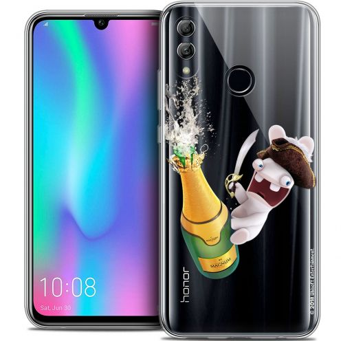 "Crystal Gel Huawei Honor 10 LITE (5.8"") Case Lapins Crétins™ Champagne !"