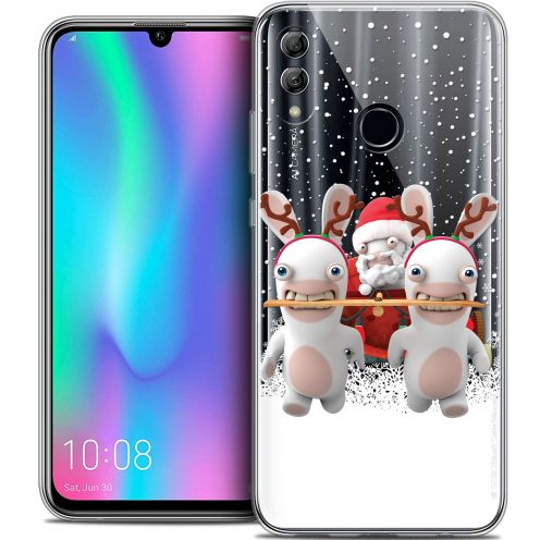 "Crystal Gel Huawei Honor 10 LITE (5.8"") Case Lapins Crétins™ Lapin Traineau"