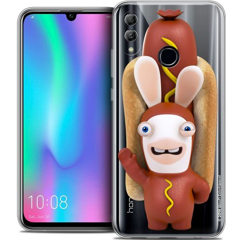 "Crystal Gel Huawei Honor 10 LITE (5.8"") Case Lapins Crétins™ Hot Dog Crétin"