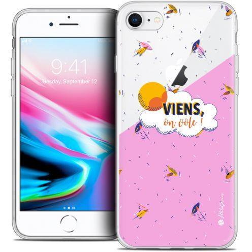 "Extra Slim Crystal Gel Apple iPhone 7 (4.7"") Case Petits Grains® VIENS, On Vole !"