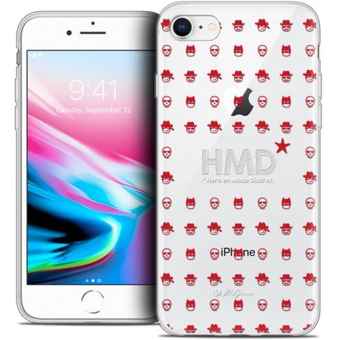 "Extra Slim Crystal Gel Apple iPhone 7 (4.7"") Case Petits Grains® HMD* Hero en Mode Discret"