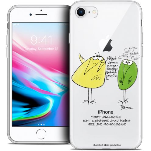 "Extra Slim Crystal Gel Apple iPhone 7 (4.7"") Case Les Shadoks® Le Dialogue"